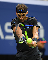 FLUSHING NY- SEPTEMBER 02: Rafael Nadal on Arthur Ashe Stadium at the USTA Billie Jean King National Tennis Center on September 2, 2016 in Flushing, Queens. Credit: mpi04/MediaPunch