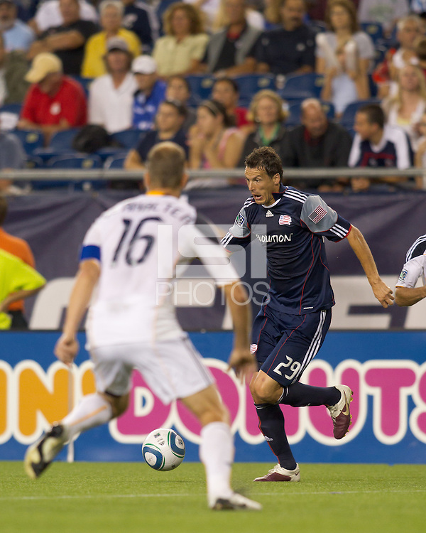New England Revolution midfielder Marko Perovic (29) dribbles. The New England Revolution defeated LA Galaxy, 2-0, at Gillette Stadium on July 10, 2010.