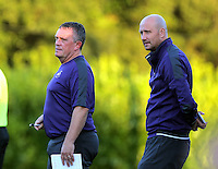 Pictured: Cameron Toshack (R) and Gary Richards (L) Monday 15 August 2016<br /> Re: Swansea City FC U23 v West Bromwich Albion at Landore training ground, Swansea, Wales, UK