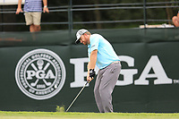 J.B. Holmes (USA) chips onto the 12th green during Friday's Round 2 of the 2017 PGA Championship held at Quail Hollow Golf Club, Charlotte, North Carolina, USA. 11th August 2017.<br /> Picture: Eoin Clarke | Golffile<br /> <br /> <br /> All photos usage must carry mandatory copyright credit (&copy; Golffile | Eoin Clarke)