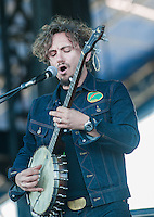 The John Butler Trio performs at the 2014 Voodoo Music Experience in New Orleans, LA.