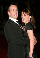 MATTHEW MacFADYEN & KEELEY HAWES.Pride & Prejudice - UK film premiere, Odeon Leicester Square, London..September 5th, 2005.half length mouths open.www.capitalpictures.com.sales@capitalpictures.com.© Capital Pictures.