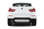 Straight rear view of 2017 BMW X4 xDrive28i 5 Door SUV Rear View  stock images