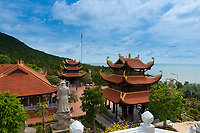 Beautiful Buddhist Temple Ho Quoc near the sea in Phuquoc, Vietnam