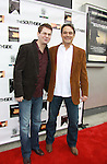 "Trent Dawson (ATWT) poses with Jon Lindstrom - As The World Turns ""Craig Montgomery"", General Hospital & Santa Barbara ""Kevin Collins"" and Santa Barbara ""Mark McCormick"" at The private Industry Screening of ""The Southside"", A Lany Film Tribute to Robert Areizaga, Jr. on February 27, 2012 at Tribeca Cinemas, New York City, New York.  (Photo by Sue Coflin/Max Photos)"