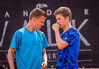 Rotterdam, Netherlands, August21, 2017, Rotterdam Open, Doubles: Lars Bijsterbosch (NED) / Tom Clavel (NED) (R)<br /> Photo: Tennisimages/Henk Koster