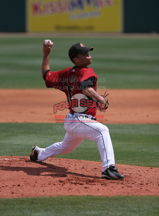 Wandy Rodriguez of the Houston Astros vs. the Florida Marlins March 15th, 2007 at Osceola County Stadium in Kissimmee, FL during Spring Training action.  Photo By Mike Janes/Four Seam Images