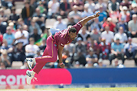 Shannon Gabriel (West Indies) in action during England vs West Indies, ICC World Cup Cricket at the Hampshire Bowl on 14th June 2019