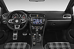 Stock photo of straight dashboard view of a 2014 Volkswagen GOLF GTD 5 Door Hatchback Dashboard
