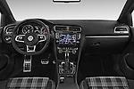 Stock photo of straight dashboard view of a 2014 Volkswagen GOLF GTD 5 Door Hatchback Dashboard