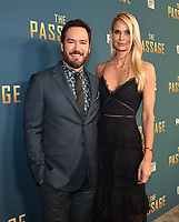 "SANTA MONICA - JANUARY 10: Mark-Paul Gosselaar and Catriona McGinn attend the red carpet premiere party for FOX's ""The Passage"" at The Broad Stage on January 10, 2019, in Santa Monica, California. (Photo by Frank Micelotta/Fox/PictureGroup)"