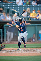 Andy Young (11) of the Reno Aces bats against the Salt Lake Bees at Smith's Ballpark on June 26, 2019 in Salt Lake City, Utah. The Aces defeated the Bees 6-4. (Stephen Smith/Four Seam Images)
