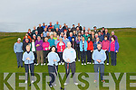 GOLFERS :Members of Castlegregory Golf Club who took part in the Captains Drive in on Sunday at Castlegregory Golf Club, on Sunday. Seamus Cronin and Isabel Mancera (Lady Capt) at the Castlegregory Captain Driv on Sunday