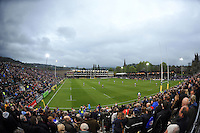 A general view of the match from the stands. Aviva Premiership match, between Bath Rugby and London Irish on April 24, 2015 at the Recreation Ground in Bath, England. Photo by: Patrick Khachfe / Onside Images
