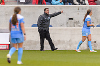 Bridgeview, IL, USA - Sunday, May 1, 2016: Chicago Red Stars head coach Rory Dames during a regular season National Women's Soccer League match between the Chicago Red Stars and the Orlando Pride at Toyota Park. Chicago won 1-0.