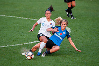 Kansas City, MO - Wednesday August 16, 2017: Taylor Lytle, Brittany Ratcliffe during a regular season National Women's Soccer League (NWSL) match between FC Kansas City and Sky Blue FC at Children's Mercy Victory Field.