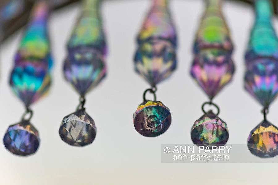 Chandelier crystals hanging