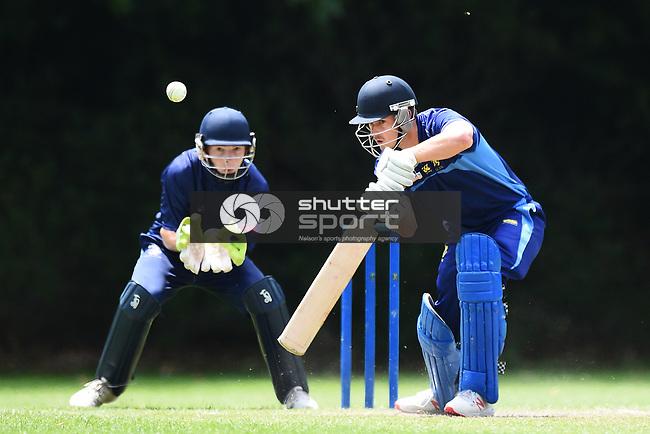 NELSON, NEW ZEALAND - Premier Cricket - ACOB v Nelson College. Botanics, Nelson, New Zealand. Saturday 8 December 2018. (Photo by Chris Symes/Shuttersport Limited)