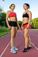 Track and Fitness Photos of Megan May and Monica Perez - Fitness Models