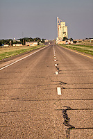 Grain elevator in Groom Texas as seen entering town from the west on route 66.