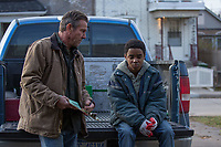 Kin (2018)<br /> Dennis Quaid &amp; Myles Truitt<br /> *Filmstill - Editorial Use Only*<br /> CAP/MFS<br /> Image supplied by Capital Pictures