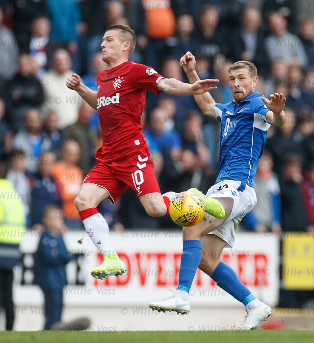 22.09.2019 St Johnstone v Rangers: Steven Davis and David Wotherspoon