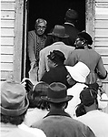 Voting in Lowndes County with local blacks voting for the first time. (Photo by Jim Peppler).    This and over 10,000 other images are part of the Jim Peppler Collection at The Alabama Department of Archives and History:  http://digital.archives.alabama.gov/cdm4/peppler.php