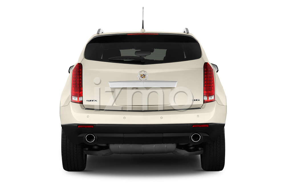 Straight rear view of a 2013 Cadillac SRX