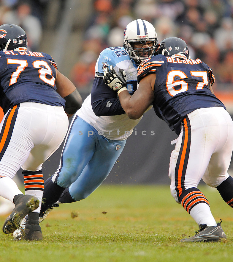 ALBERT HAYNESWORTH, of the Tennessee Titans in action against the Chicago Bears, during the Titans game  in Chicago, IL  on Novmeber 7, 2008..Titans win 21-14