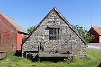 Fischerh&uuml;tte in Snogeb&aelig;k auf der Insel Bornholm, D&auml;nemark, Europa<br /> fisherman's hut in Snogebaek, Isle of Bornholm Denmark