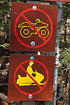 No trespass sign, Algonquin Park, Ontario