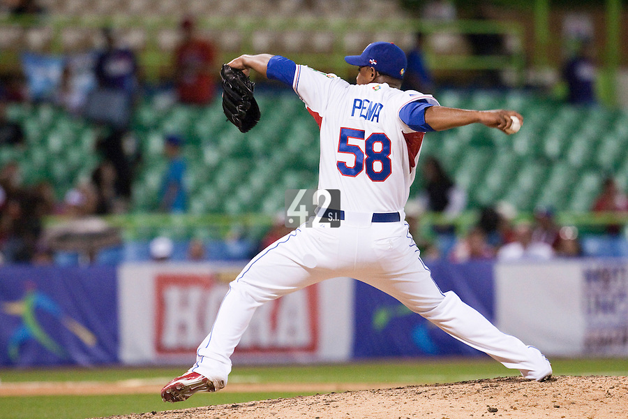 8 March 2009: #58 Tony Pena of Dominican Republic pitches against Panama during the 2009 World Baseball Classic Pool D match at Hiram Bithorn Stadium in San Juan, Puerto Rico. Dominican Republic wins 9-0 over Panama.