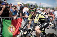 Adam Yates (GBR/Mitchelton-Scott) after finishing the TTT<br /> <br /> Stage 2 (TTT): Brussels to Brussels (BEL/28km) <br /> 106th Tour de France 2019 (2.UWT)<br /> <br /> ©kramon