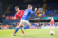 Alan Judge of Ipswich Town gets the foul from Callum Johnson of Accrington Stanley during Ipswich Town vs Accrington Stanley, Sky Bet EFL League 1 Football at Portman Road on 11th January 2020