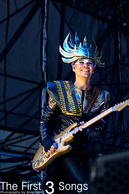 Luke Steele of Empire of the Sun performs during the 2013 Budweiser Made in America Festival in Philadelphia, Pennsylvania.