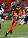 CLEVELAND, OH - SEPTEMBER 1, 2016: Wide receiver Josh Gordon #12 of the Cleveland Browns runs a route in the second quarter of a game on September 1, 2016 against the Chicago Bears Cleveland Browns at FirstEnergy Stadium in Cleveland, Ohio. Chicago won 21-7. (Photo by: 2016 Nick Cammett/Diamond Images)  *** Local Caption *** Josh Gordon