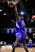 Saints&rsquo; Majok Majok in action during the NBL - Cigna Saints v Canterbury Rams at TSB Arena, Wellington, New Zealand on Tuesday 3 July 2018.<br /> Photo by Masanori Udagawa. <br /> www.photowellington.photoshelter.com