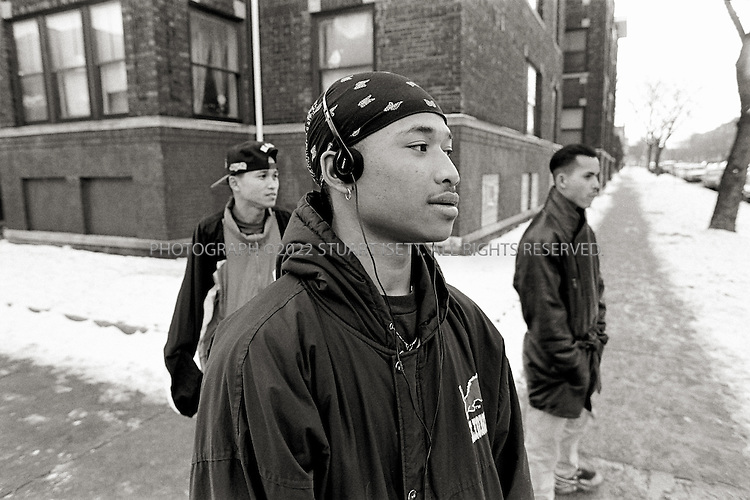 1994--Chicago, IL the Loco Boys on the corners of Argyle and Glenwood in the Uptown neighborhood. ©2008 Stuart Isett