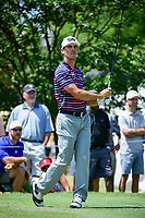 Billy Horschel (USA) watches his tee shot on 7 during round 2 of the Dean &amp; Deluca Invitational, at The Colonial, Ft. Worth, Texas, USA. 5/26/2017.<br /> Picture: Golffile | Ken Murray<br /> <br /> <br /> All photo usage must carry mandatory copyright credit (&copy; Golffile | Ken Murray)