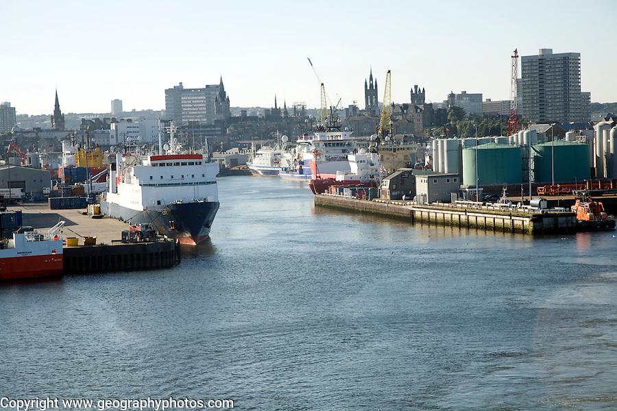 Port harbour, Aberdeen, Scotland