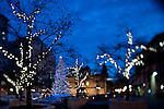 The Christmas Tree in Pioneer Square, Portland, Oregon.