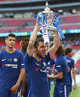 Chelsea's Cesc Fabregas with the trophy<br /> <br /> Photographer Rob Newell/CameraSport<br /> <br /> Emirates FA Cup Final - Chelsea v Manchester United - Saturday 19th May 2018 - Wembley Stadium - London<br />  <br /> World Copyright &copy; 2018 CameraSport. All rights reserved. 43 Linden Ave. Countesthorpe. Leicester. England. LE8 5PG - Tel: +44 (0) 116 277 4147 - admin@camerasport.com - www.camerasport.com