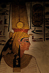 Painting of Nefertari Ramses II's wife from her tomb, Valley of the Queens, Egypt, New Kingdom