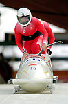 19 November 2005: Marco Vignola pilots the Poland 2 sled to a 34th place finish at the 2005 FIBT AIT World Cup Men's 2-Man Bobsleigh Tour at the Verizon Sports Complex, in Lake Placid, NY. Mandatory Photo Credit: Ed Wolfstein.