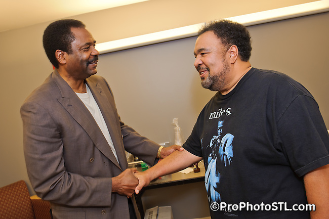 Private reception after George Duke, Marcus Miller and David Sanborn concert at Touhill in St. Louis, MO on Aug 7, 2011.