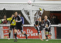 Pablo Hernandez #21 of D.C. United makes an overhead kick during an MLS match against Toronto FC that was the final appearance of D.C. United's Jaime Moreno at RFK Stadium, in Washington D.C. on October 23, 2010. Toronto won 3-2.