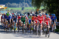 Picture by Alex Whitehead/SWpix.com - 28/09/2018 - Cycling - UCI 2018 Road World Championships - Innsbruck-Tirol, Austria - U23 Men's Road Race - Mikkel Bjerg, Wilsly Gregaard, Mikkel Frolich Honore, Manugs Bak Klaris and Joans Vingegaaed of Denmark