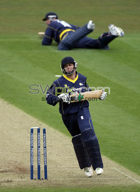 PICTURE BY VAUGHN RIDLEY/SWPIX.COM - Cricket - Friends Provident Trophy - Durham v Yorkshire - The Riverside, Durham, England - 20/04/08...Copyright - Simon Wilkinson - 07811267706..Durham's Neil McKenzie is run out by Yorkshire's Tim Bresnan.