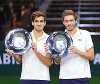 Rotterdam, The Netherlands, 18 Februari, 2018, ABNAMRO World Tennis Tournament, Ahoy, Doubles final,Winners:  Pierre-Hugues Herbert (FRA) / Nicolas Mahut (FRA), <br />