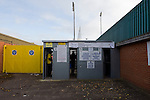 AFC Wimbledon 4 Portsmouth 0, 16/11/2013. Kingsmeadow, League Two. Wimbledon and Portsmouth have had turbulent histories and both supporter-owned clubs are now in League Two. Turnstile entrance to the Kingsmeadow Stadium.  Photo by Simon Gill.
